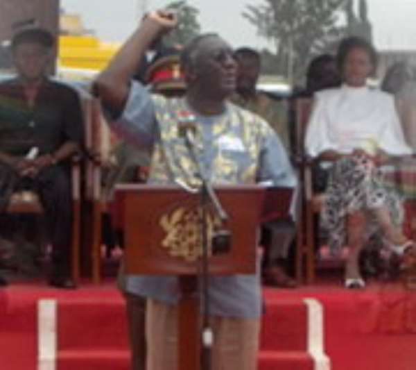 President Kufuor urges youth to return to the land